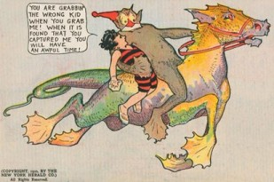 A panel from the comic strip Little Nemo in Slumberland (1905-1914)