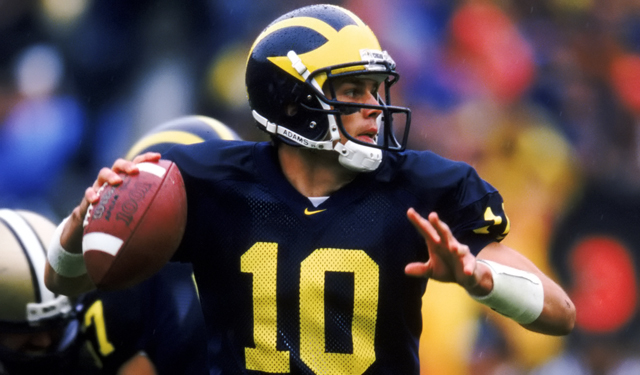 Tom Brady University of Michigan number 10