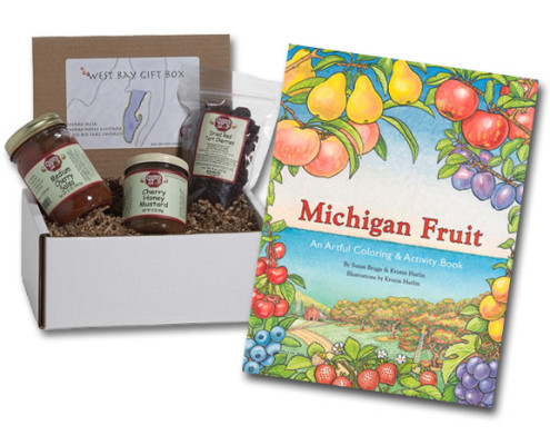 The Daily Michigan Fruit Coloring Book And A West Bay Gift Box